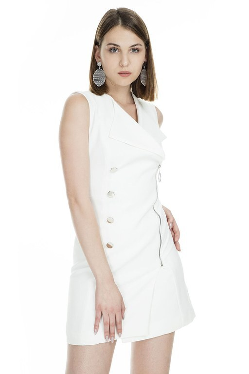 Lela - Lela Mini Bayan Elbise 61235 EKRU