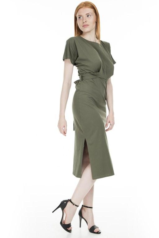 Lela - Lela Yırtmaçlı Bayan Elbise MK19S284638