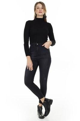 Lela - Lela Yüksek Bel Skinny Jeans Bayan Kot Pantolon 58713263 SİYAH