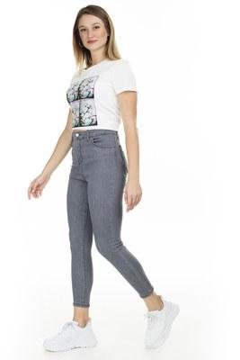 Lela - Lela Yüksek Bel Skinny Jeans Bayan Kot Pantolon 58714861 GRİ